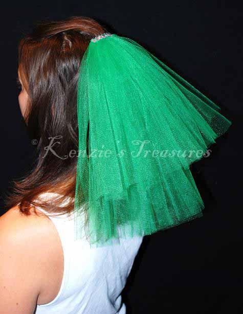 زفاف - Create Your Own 2-Tier Wedding or Bachelorette Party Veil Clip With Rhinestone Top