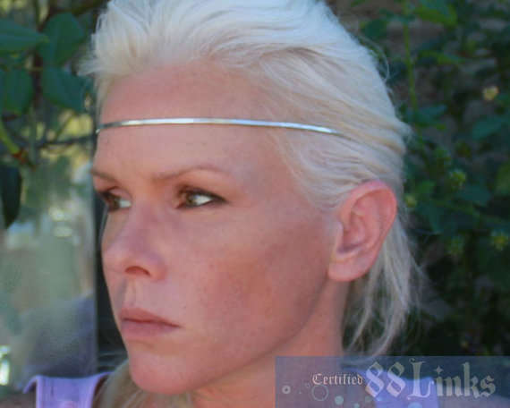 Wedding - Fairytale Circlet, Silver Crown Jewelry Headband