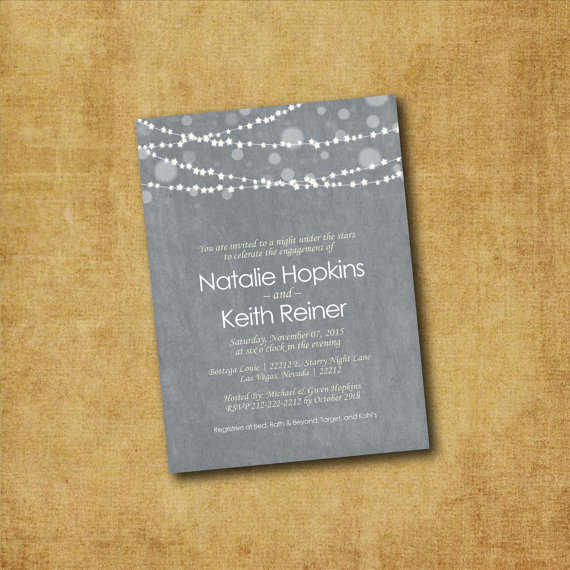 engagement party invitation printable hanging lights engagement