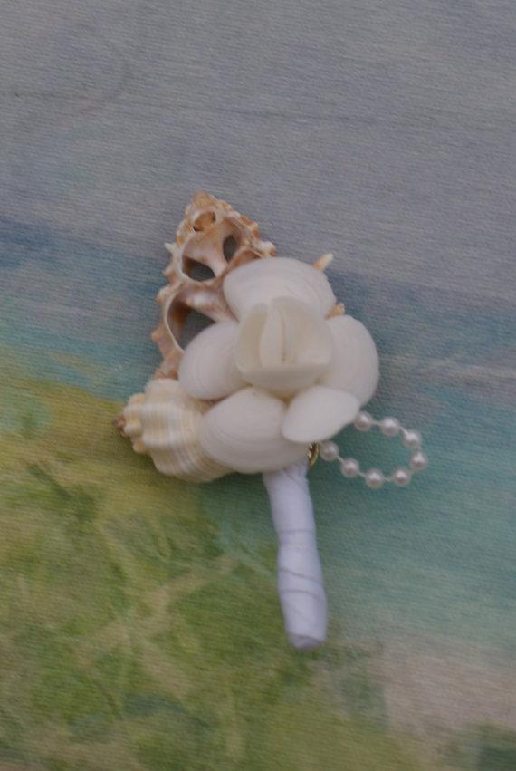 Свадьба - Groom and Groomsmen boutonnieres, seaside, beach wedding