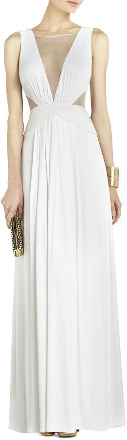 Mariage - Magdalena Draped Jersey Evening Gown