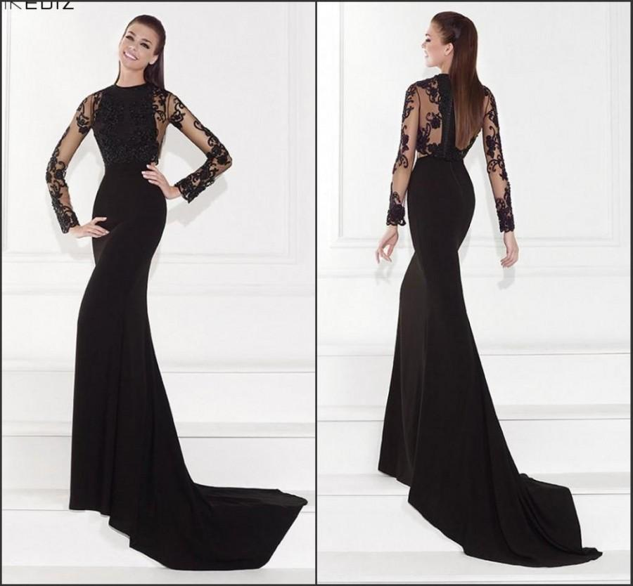 New Arrival 2015 Tarik Ediz Evening Dresses With Long Sleeve