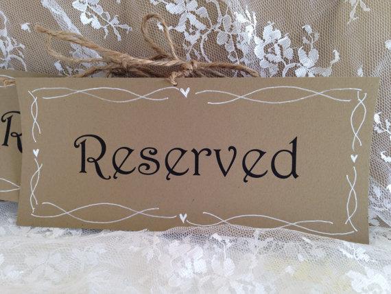 زفاف - Reserved Wedding Signs - Rustic Hand drawn, country wedding, rustic wedding,
