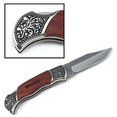Свадьба - Set Of 8 Custom Engraved Pocket Knife - Hunting Knife With Rosewood Handle. Personalized For YOU! Great Groomsmen/Christmas/Birthdays!