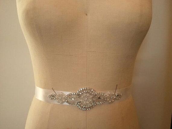 Wedding - SALE - Wedding Belt, Bridal Belt, Bridesmaid Belt, Bridesmaid Belt,, Crystal Rhinestone - Style B149