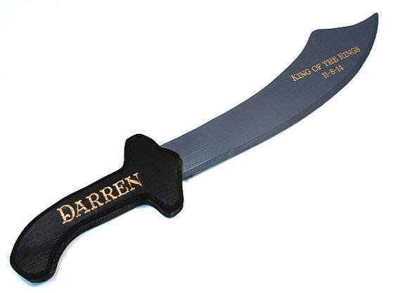 Wedding - Personalized Wooden Sword,Ring Bearer Gift,Groomsmen Gift,Best Man Gift,Toy Sword