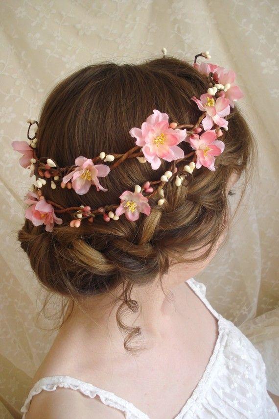 Mariage - Cherry Blossom Flower Head Wreath