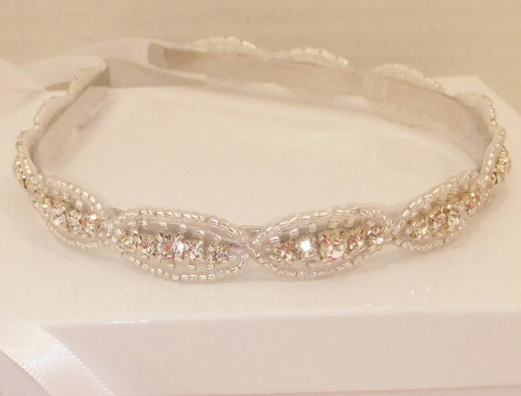 Wedding - Ready to Ship, Wedding Headpiece, HARLEY, Bridal Headpiece, Bridal Headband, Crystal Headpiece