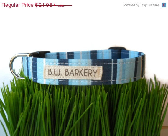 """Свадьба - THINK SPRING SALE Nautical striped  dog collar from the """"Coastal Collection""""... Any size..."""
