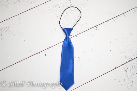 Wedding - Royal Blue Boys Tie, Royal Boys Tie Birthday Photo Prop, Blue Ring Bearer Wedding, Boys Tie, Newborn, Toddler, First Birthday, Boys Necktie