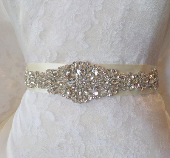 Свадьба - Wedding Belt Sash, Bridal Belt, Bridal Sash, Belt, Crystal Sash, Rhinestone Belt, Wedding Belt Sash, Crystal Wedding Belt,
