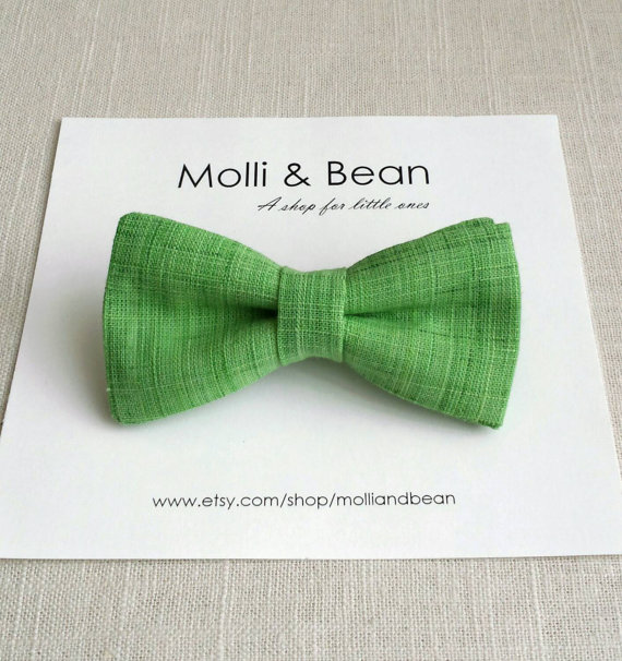 Свадьба - The Tyler - Baby, Newborn, Toddler, Boys bow tie, Kids bow tie, Wedding bow tie, Ring bearer bowtie, Green bow tie, Mens tie, Easter bow tie