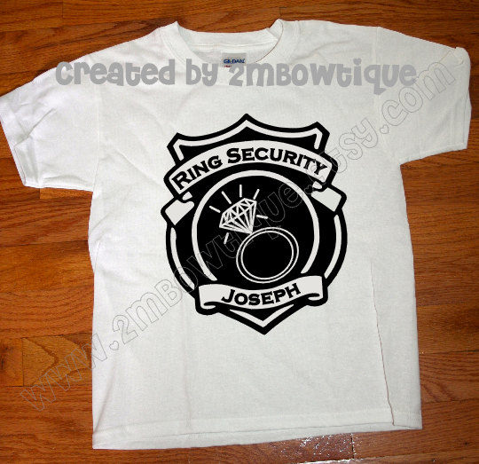 Свадьба - Gift Idea of Ring Bearer. Ring Security.... Ring Bearer T-Shirt. Free Personalization.