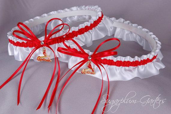 زفاف - Saint Louis Cardinals Wedding Garter Set