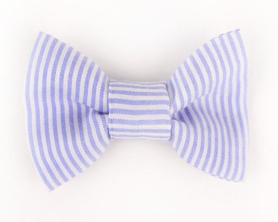 Свадьба - Dog Collar Bow Tie Blue Nautical Stripe collar accessory