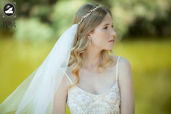 Hair Accessory Bridal Tiara Accessories Wedding Headband Vine Veil