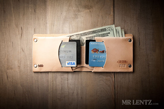 Mariage - Personalized Leather Groomsmen Wallet, Groomsmen Leather Wallet, Wedding Wallet Gift, Handmade Leather wallet, Custom Leather Wallet 015