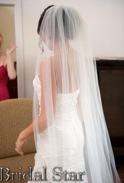 Mariage - Long wedding veil cathedral wedding veil chapel wedding veil