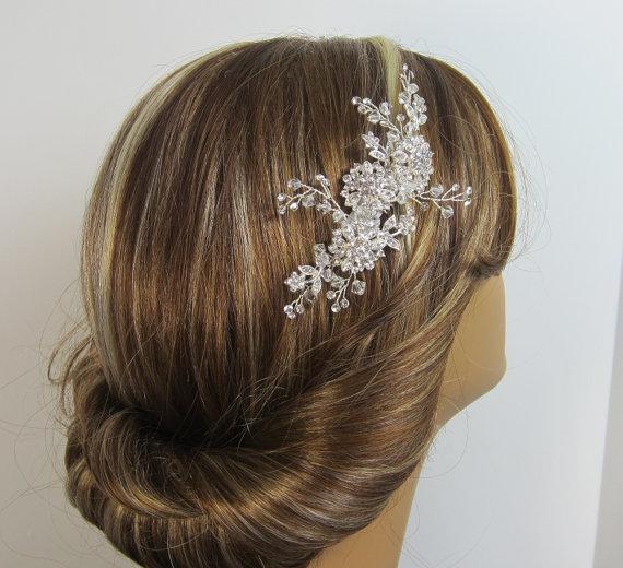 Wedding - Crystal Bridal Comb, Chloe Bridal hair comb, Wedding hair accessories, Bridal Headpieces, Rhinestone hair comb bridal