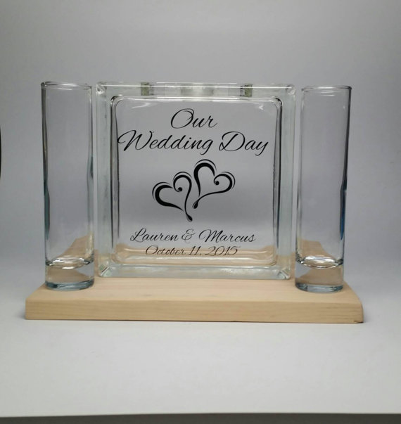 Unity Sand Wedding Ceremony Set Personalized Beach Decor Candle Alternative Our Day