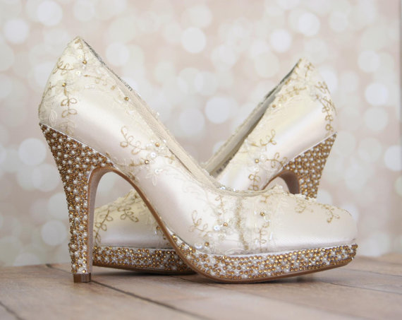 Wedding Shoes Ivory Platform Wedding Heels