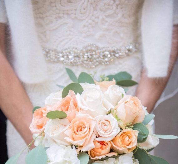 Свадьба - Crystal wedding dress belt diamond bridal sash belt pippa