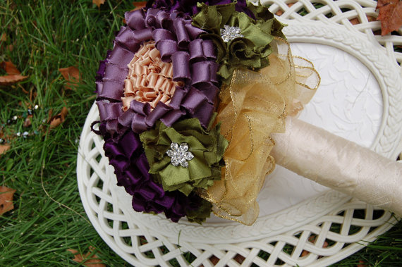 "Mariage - Fabric Flower Bouquet Tutorial ""Glorious"" by Fancy Schmancy 3 Pack INSTANT Download"