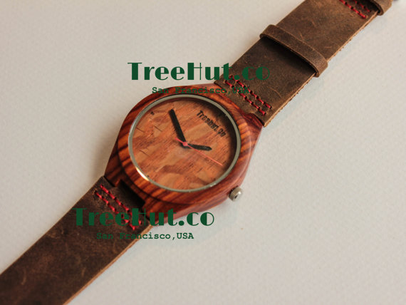 32bcc9f105bbe Personalized Minimalist Engraved Wooden Watch