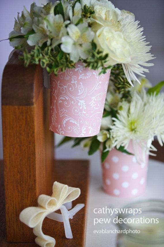 Pew Clip Vase Pew Decorations Wedding Ceremony Aisle Flower Vases
