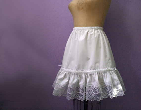 Wedding - Fancy White Lace  Petticoat,  custom made to your size and length