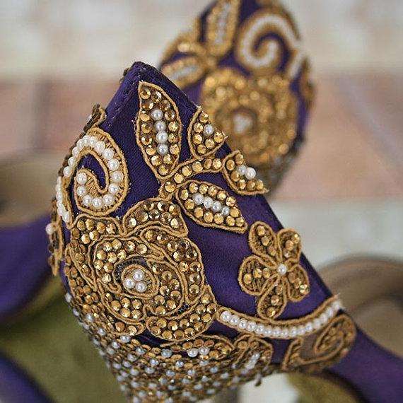 زفاف - Design Your Own Wedding Shoes -- Pricing Varies by Design -- Send Us a Custom Inquiry