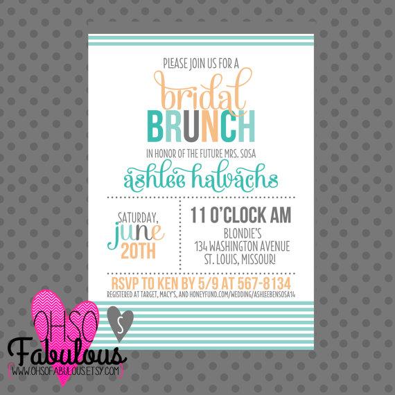 Wedding - Colorblock Bride // Bridal Shower Brunch Invitation // PRINTABLE