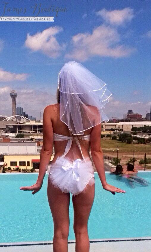 زفاف - Bachelorette Party Set - Booty veils and Headpiece Veil - Hen Party Bridal set