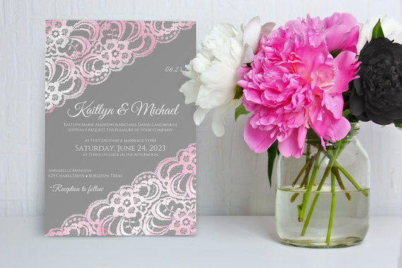 DiY Wedding Invitation Template Download Instantly EDITABLE - Wedding invitations templates download