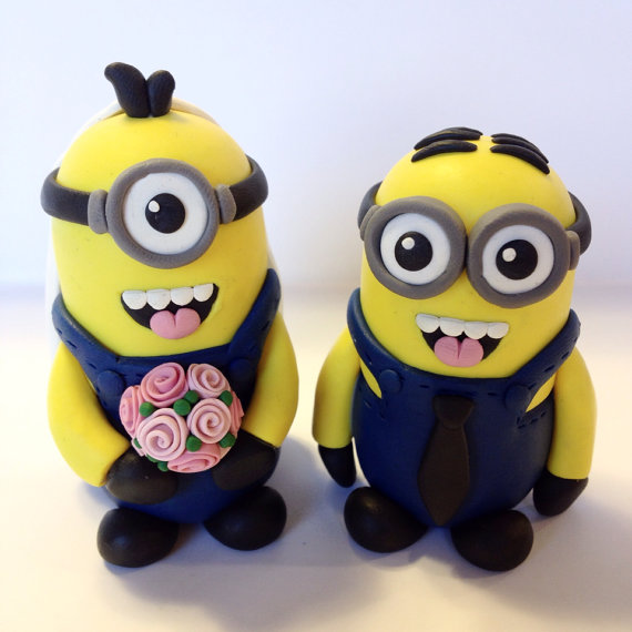 minion wedding cake topper choose your colors 2243646 weddbook. Black Bedroom Furniture Sets. Home Design Ideas