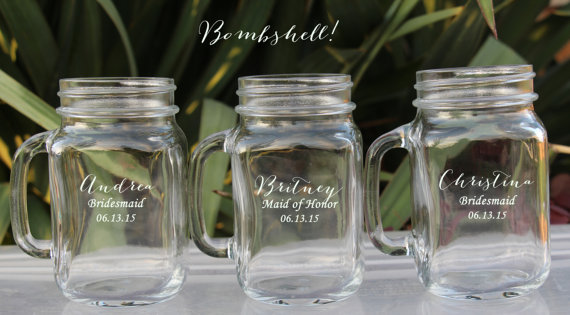 12 Groomsmen Gifts Wedding Party Drinking Gles Favor Bridesmaid Gift Personalized Mugs With Handle Mason Jars Bulk