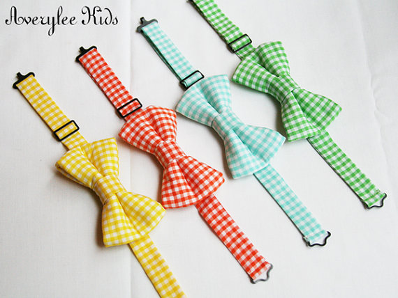 زفاف - Boys Bow tie, Toddler Bow Tie, Check Bow Tie, Gingham Bowtie, Wedding Ring Bearer, Infant Bow Tie