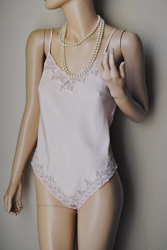 Hochzeit - Vintage Dotted Light Pink Teddy - Small