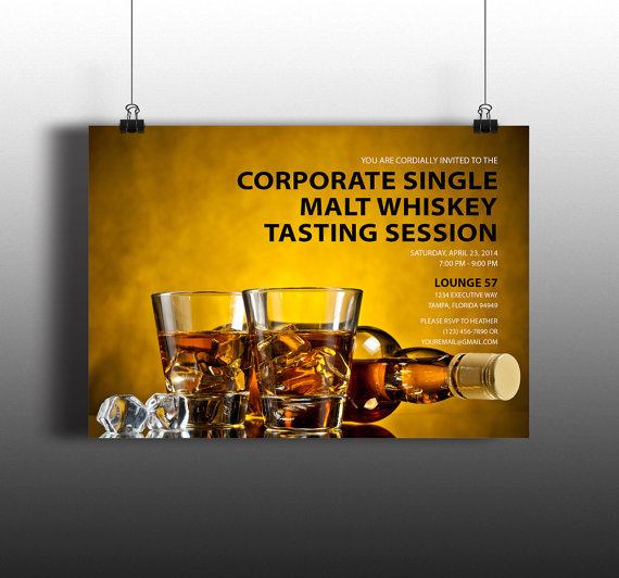 instant download bourbon whiskey tasting corporate executive diy