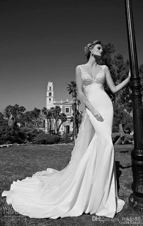 Detachable train 2015 new arrival galia lahav wedding for Wedding dress heart shaped neckline
