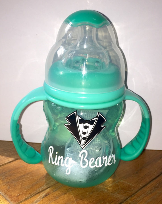 Wedding - Personalized Ring Bearer Sippy Cup