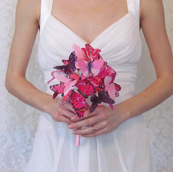 Свадьба - Pink & Purple Butterfly Bouquet