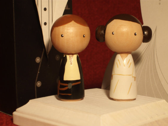Star Wars Kokeshi Star Wars Wedding Cake Topper Kokeshi Princess
