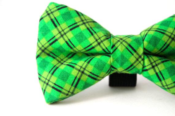 Свадьба - Dog Bow Tie, Doggie Bow TIe, Green Dog Bow Tie