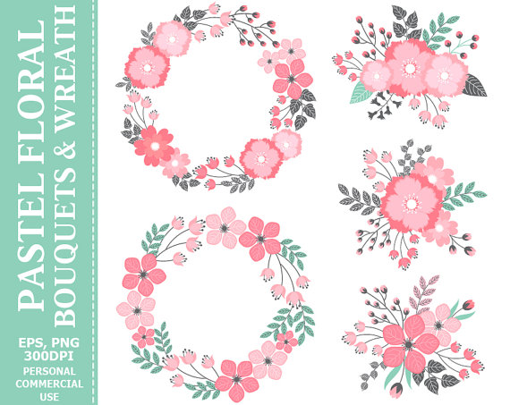 Buy 2 get 1 free digital pastel wreath bouquets clip art leaves buy 2 get 1 free digital pastel wreath bouquets clip art leaves flowers wedding pink blossoms clip art commercial and personal use mightylinksfo Choice Image