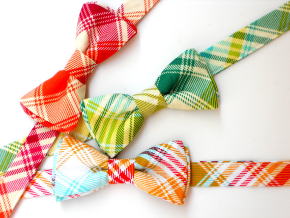 Свадьба - Boys bowtie, plaid bowties for toddlers, baby bowtie, green plaid bowtie, wedding bowties for men, groomsmen bowties, ring bearer bowtie