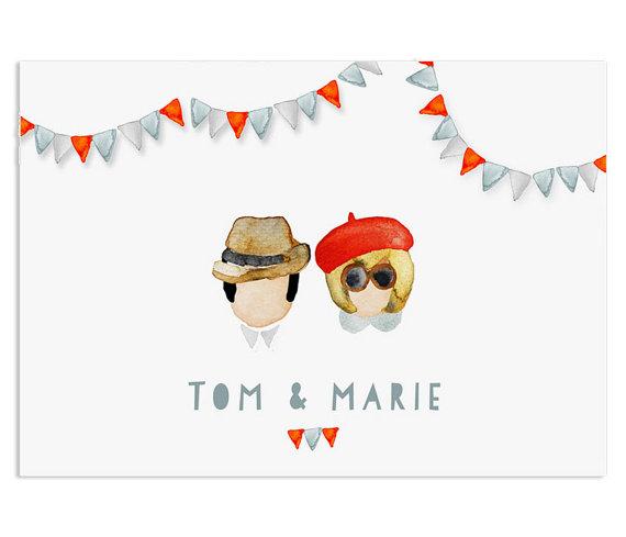 Mariage - mini-me wedding invitation