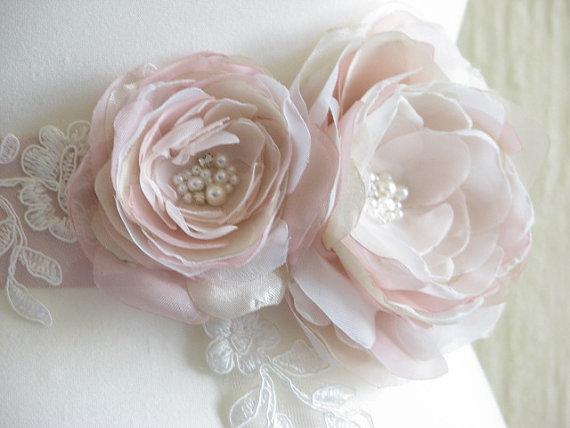 Hochzeit - Champagne sash Champagne ribbon sash Blush wedding sash Champagne wedding Blush ribbon sash Champagne dress Blush dress Champagne dress