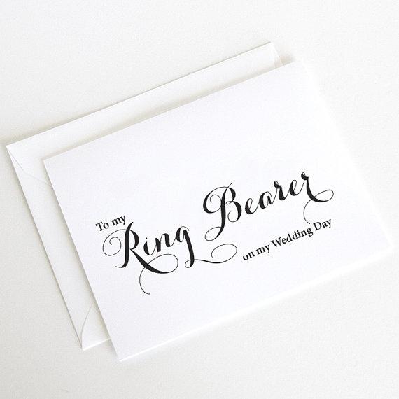 زفاف - Ring Bearer Card, Ring BearerThank You Card, On My Wedding Day Cards, Wedding Day Cards (WD209-CA)