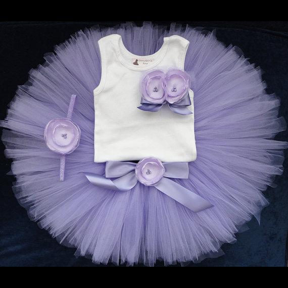 Wedding - Little Lavender Cake Smash Tutu Dress, Lavender Flower Girl Dress